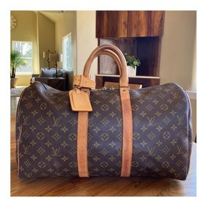 AUTHENTIC LOUIS VUITTON KEEPALL 45 DUFFLE BAG